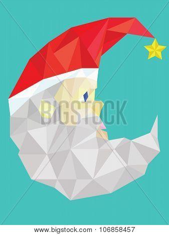 Low polygon vector of santa claus