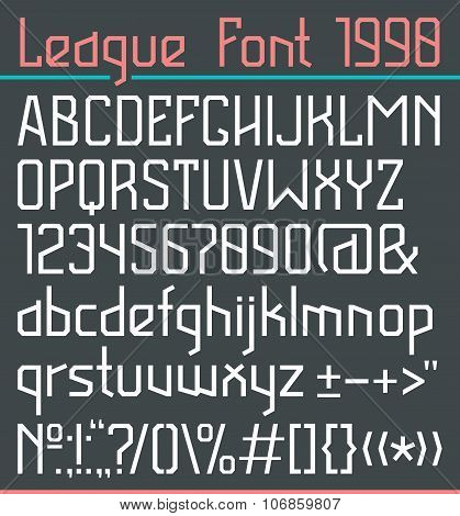Sans Serif Font In Thin Line Style