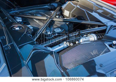 Lamborghini V12 Engine On Display