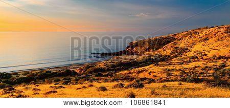 South Australian coast at sunset
