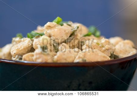 A Classic Lemon Chicken With A Lovely Creamy Sauce.