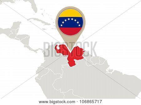 Venezuela On World Map