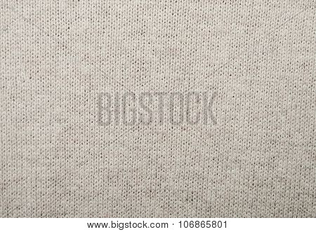 Beige wool knitted fabric