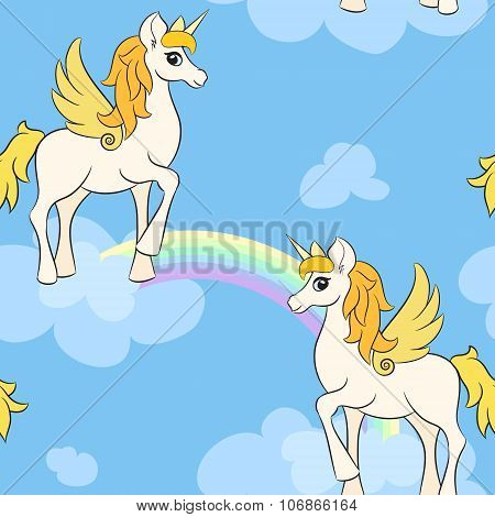 The Pegasi In The Clouds In The Sky