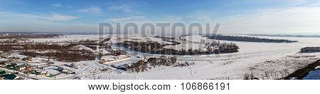Winter City And The River