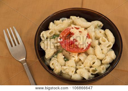 Cheesy Macaroni With White Sauce