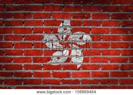 Dark Brick Wall - Hong Kong