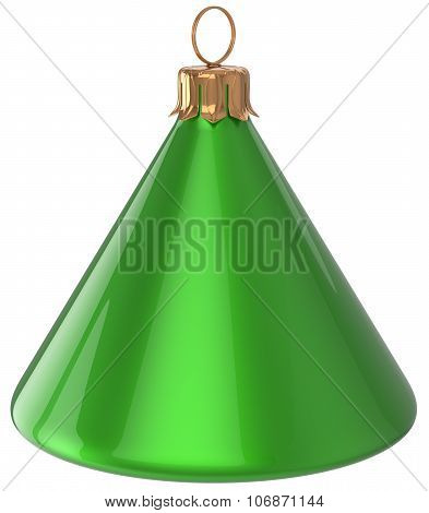 Christmas Ball Cone Geometric New Year's Eve Bauble Green