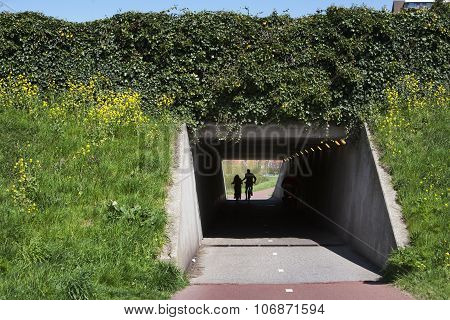 Concrete Bicycle Tunnel