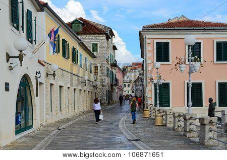 Street In Herceg Novi, Montenegro