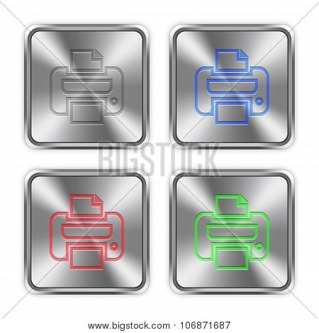 Color Print Steel Buttons