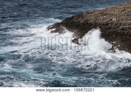 Waves On Rough Mediterranean Sea - Off The Coast Of Malta