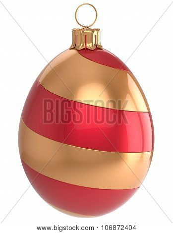 Christmas Bauble Decoration Red and Gold