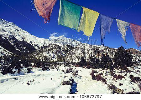 Mountain Inspirational Landscape, Annapurna Range Nepal