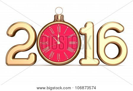 New 2016 Year's Eve Date Clock Christmas Ball Decoration