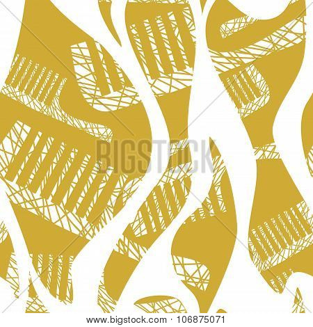 Seamless Pattern With Comb