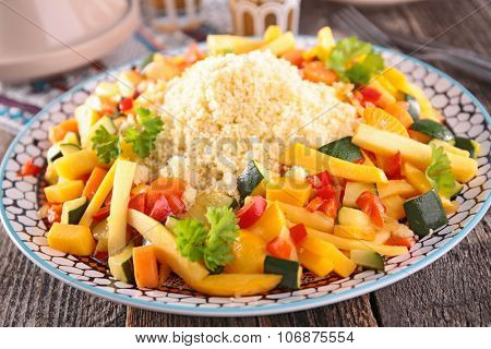 couscous and vegetable