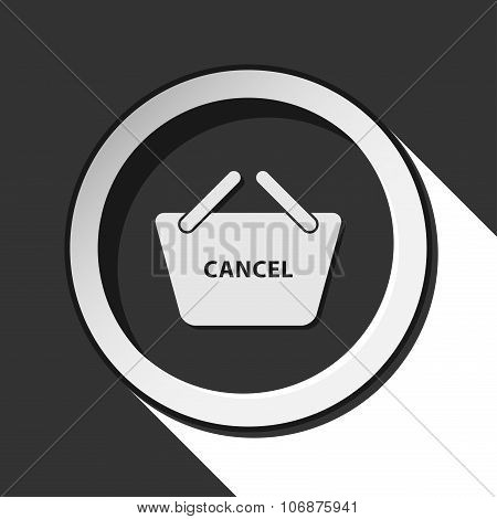 Icon, Shopping Basket Cancel With Shadow