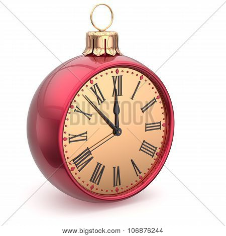 Happy New Year Time Christmas Ball Midnight Clock Decoration