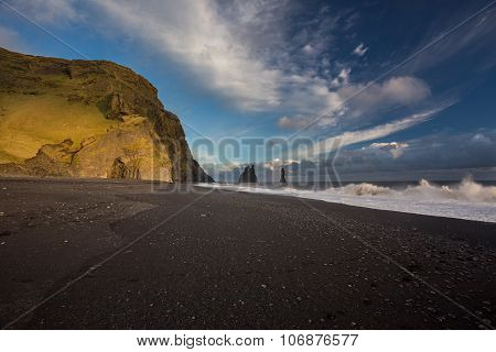 Black Beach, Iceland, Vik, Coast