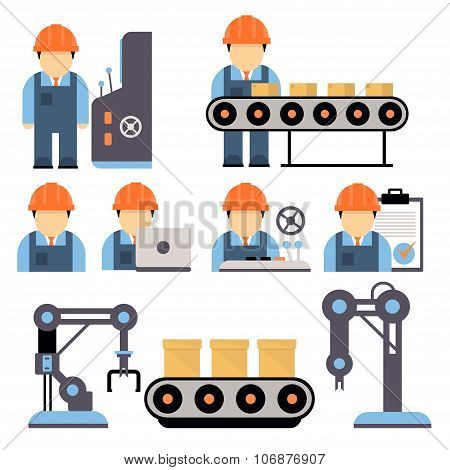 Production Process Vector Illustration