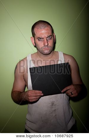 Angry Man In Mugshot