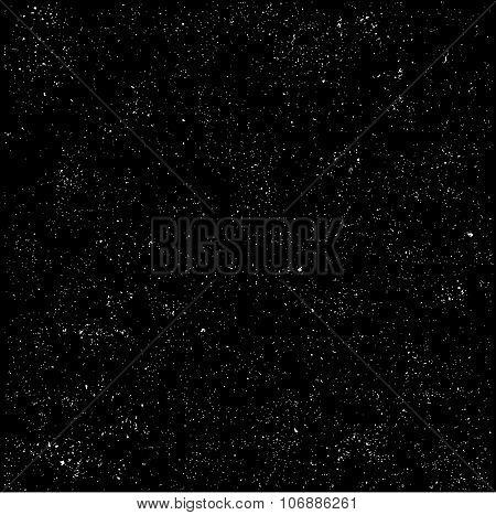 Tiny Stone Grunge Detail In Black Over White