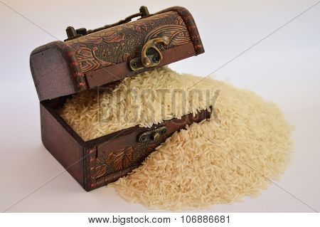 Treasure chest filled with ricce