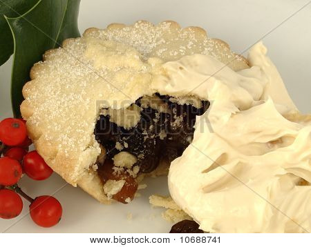 A Mince Pie With Brandy Cream