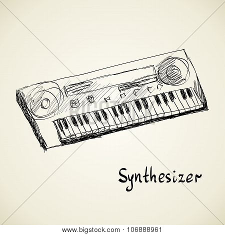 illustration of musical keyboard