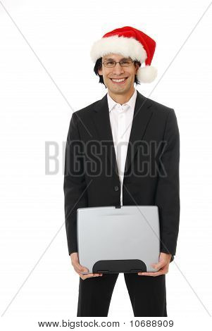 Businessman At Christmas