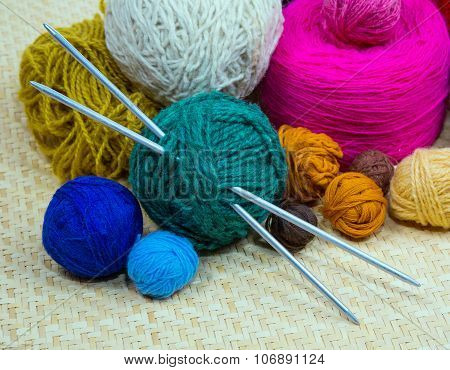Yarn For Knitting Needles, Close-up
