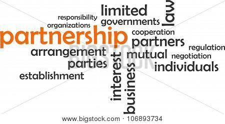 word cloud - partnership