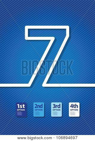 a blue number background