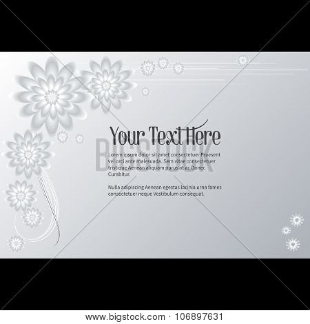 Frame For Text With Elegant Abstract Floral Motif