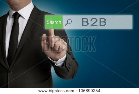 B2B Browser Is Operated By Businessman Concept