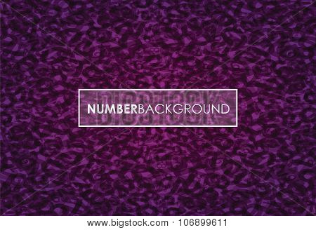 a purple abstract number background