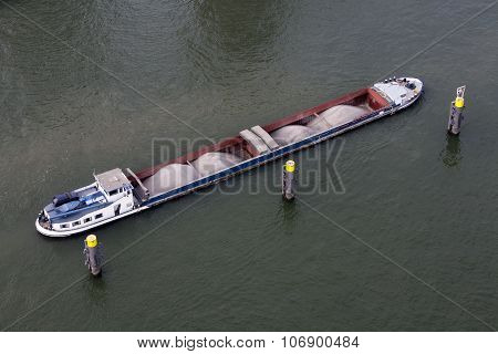 Barge loaded with bulk