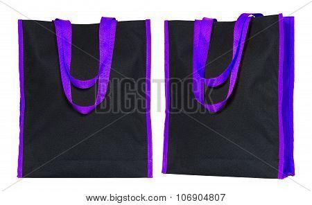 Shopping Fabric Bag Isolated On White