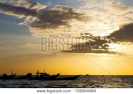 Asia   The  Kho Tao Bay Isle Sunset Sun