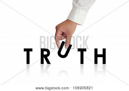 Truth Typography Concept