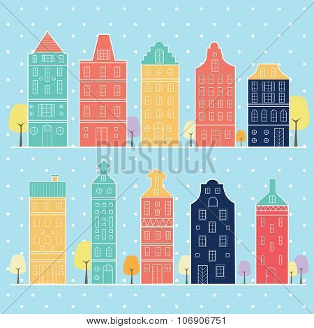 Home Sweet Home In Snow Pastel Color