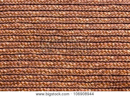 Red Handcraft Rattan Woven Texture Background