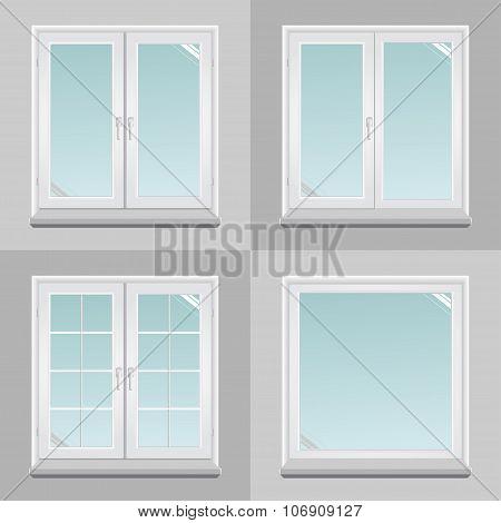 Four Pvc Windows
