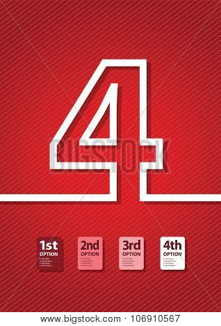 a red number background