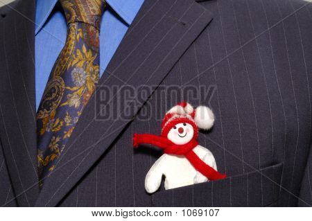 Businessman's Snowman