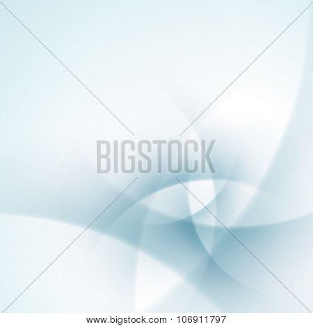 Blue smooth twist light lines vector background. Good for Brochure, Presentation, Advertising Banner, Flyer or Poster design.