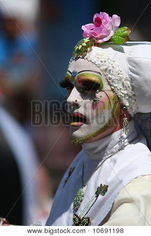 Male Nun White Habit Gay Parade Sf