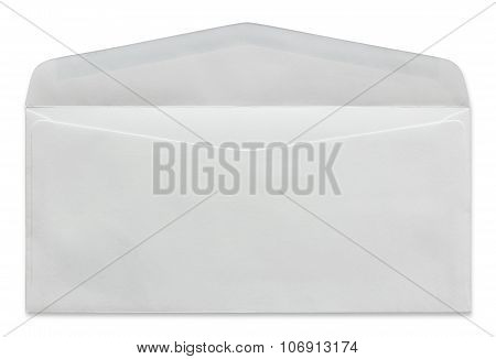 Open White Envelope Isolated On White Background