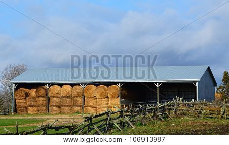 Large Round Bale Storage
